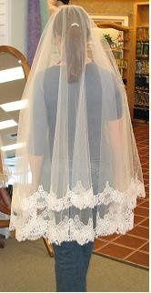 Tmx 1271187593442 LaceEdgeVeil2 Seattle wedding dress