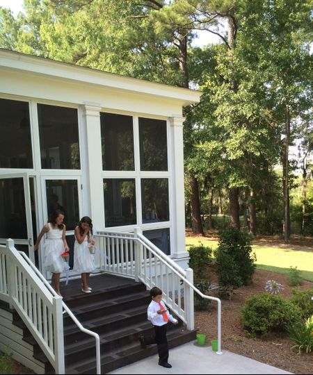 Children at the porch