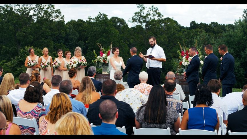 Kelsea Schwartz and Brett Reed tie the knot at Whispering Oaks Vineyard July 15, 2017.