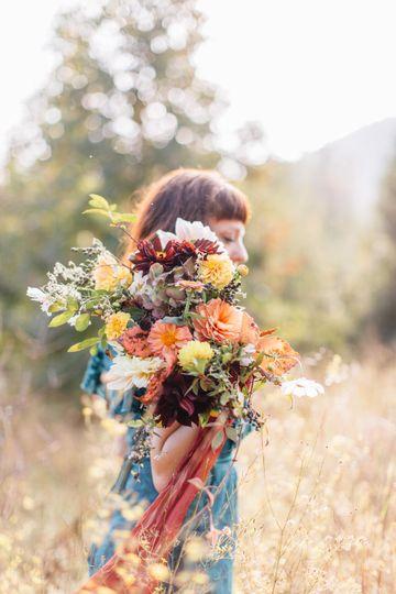 Late October dahlia bouquet