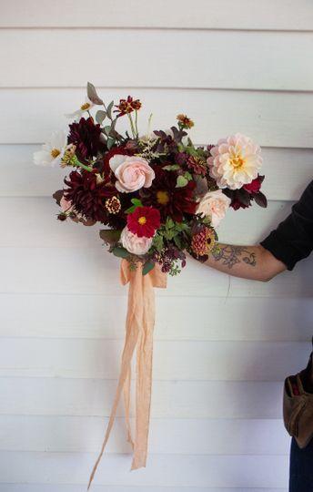 October burgundy and blush