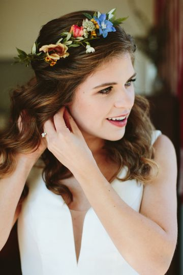 Delicate flower crown