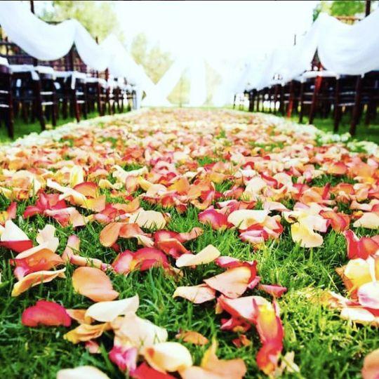 Flowery aisle