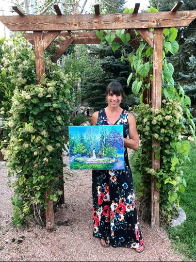 Wedding Painter Julia Dordoni