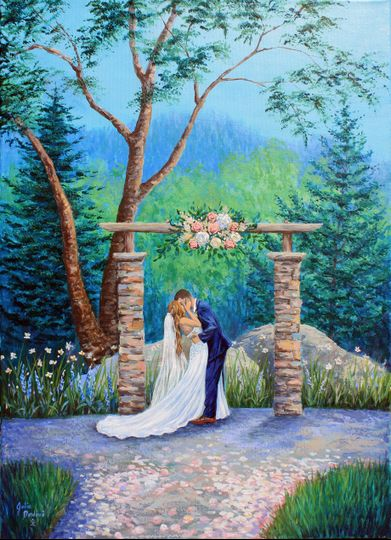 A Wedding Painting From Photo