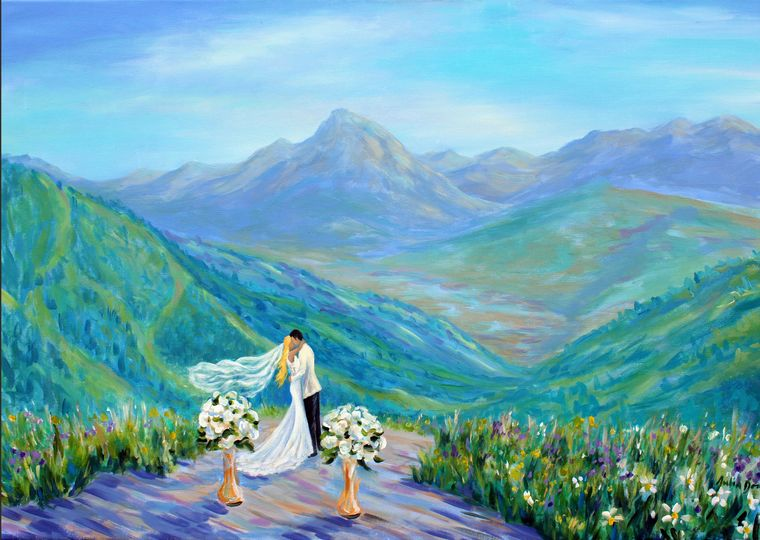 A Live Wedding Painting