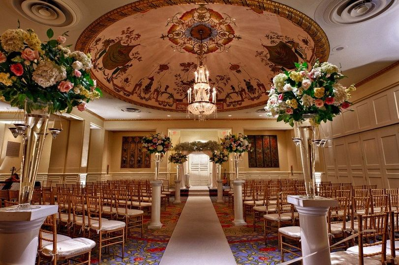 Chinese Ballroom Ceremony Capacity:  50 - 150 Guests