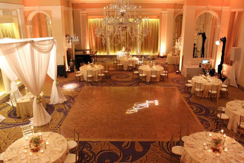 Palm Court Ballroom Wedding Reception (Dinner/Dance)