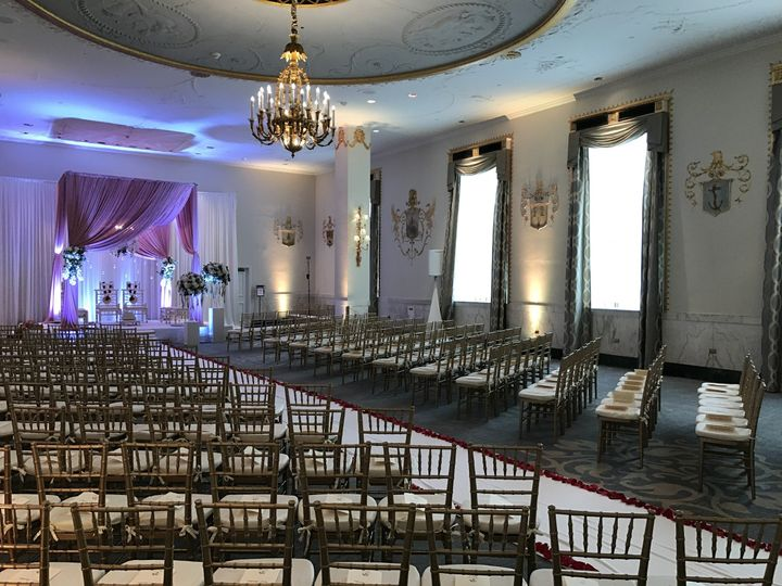 Palm Court Ballroom Ceremony Capacity:  150-300 Guests