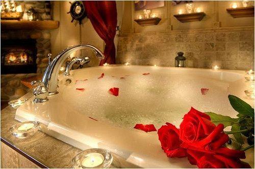 decorating romantic bathroom