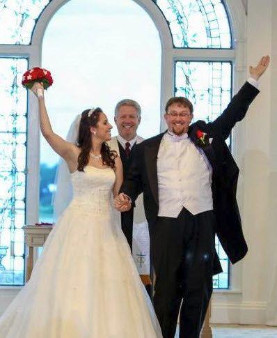 The final pronouncement at Disney's wedding pavilion