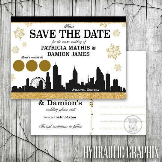 Nice 800x800 1455818761457 Atlanta Skyline Save The Date; 800x800 1455821288782  Oversized Wedding Program ...