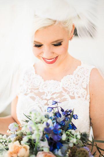 Vibrant blue florals - Lexi Gregory Photography
