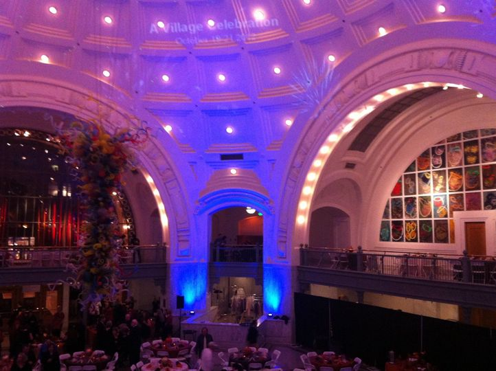 Uplighting and Video Projection at Union Station in Tacoma