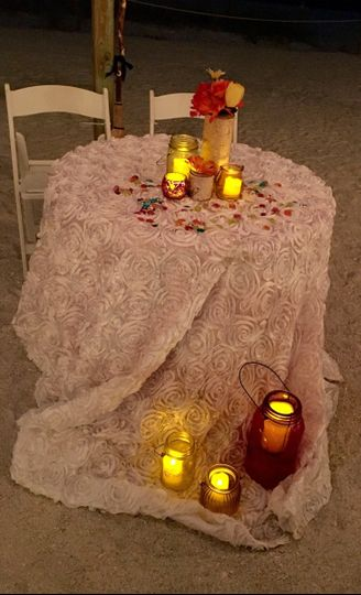 Table decor with candle design