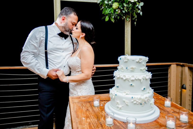 The couple and the cake