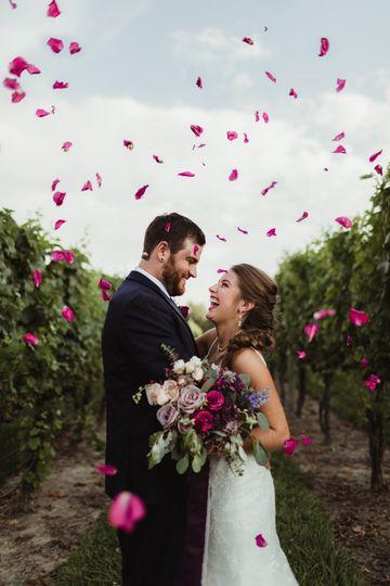 Petals in the vineyard