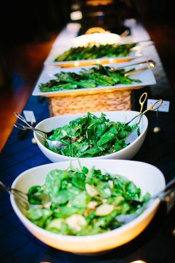 Buffet salad presentation