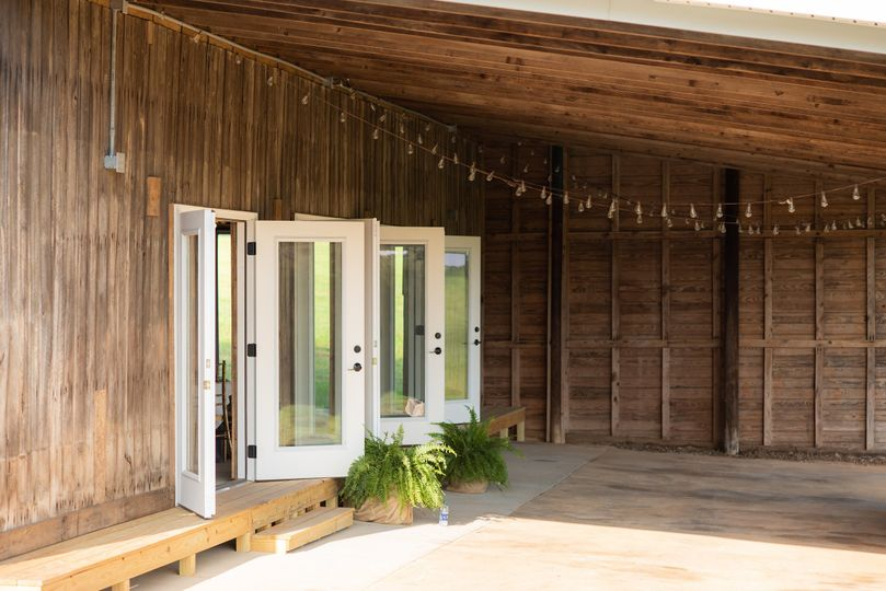 Back patio of the barn