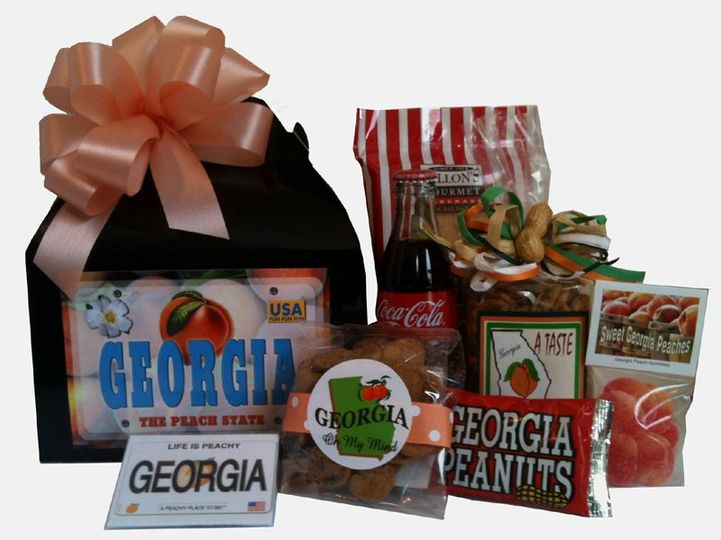 This Georgia Welcome Basket includes our best Georgia goodies, Coke and souvenir magnet.  The...