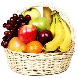 Delicious fruit baskets are always in season.  Available in a variety of price ranges.