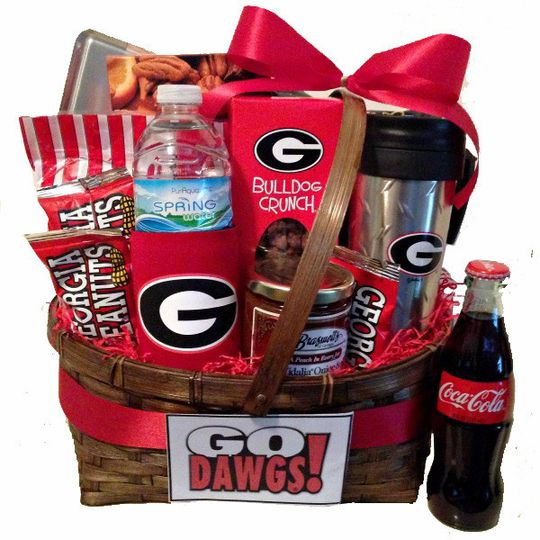 For the sports fan, this University of Georgia Bulldog Basket is a great idea for a groomsman's...