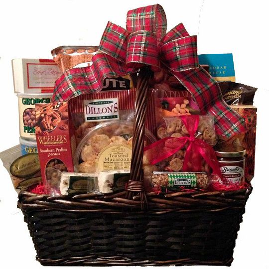 Brimming with delicious foods from Georgia, this bountiful gift basket makes a great welcome gift...