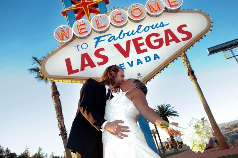 Couple at Las Vegas Sign