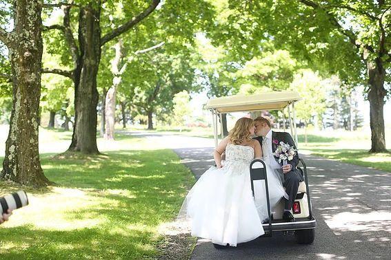 On the golf cart
