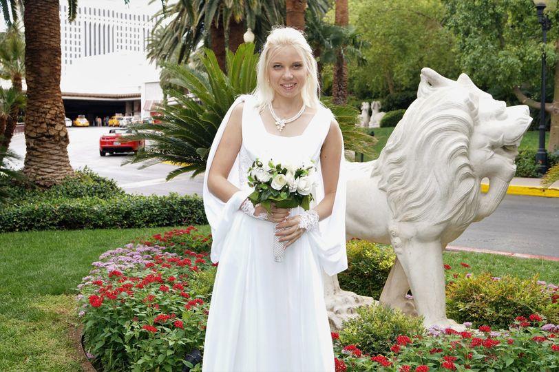 A radiant newlywed