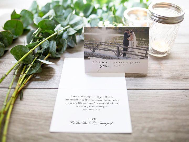 Tmx Folded Thank You Card Gianna 1 51 966220 Wharton, NJ wedding invitation