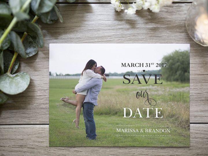 Tmx Save The Date Marissa 1 51 966220 Wharton, NJ wedding invitation