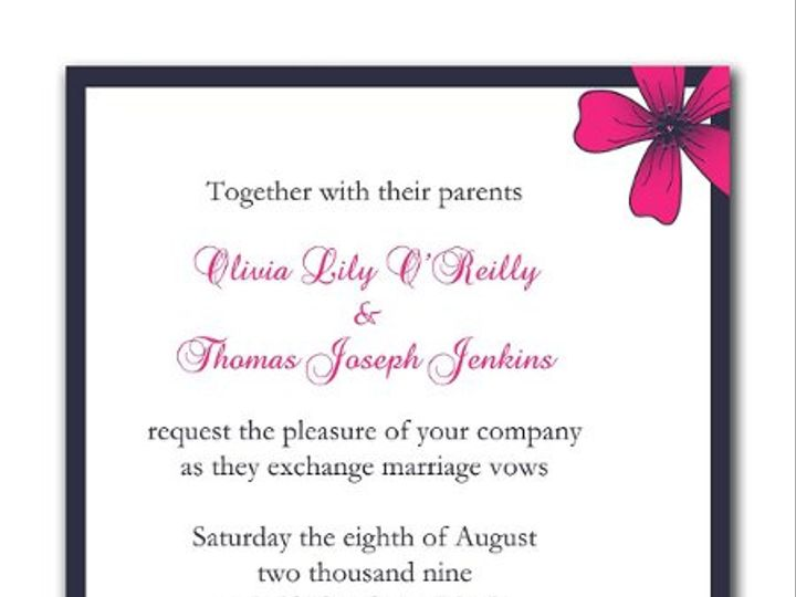Tmx 1247765890880 Cornerflowers1a Mount Holly wedding invitation