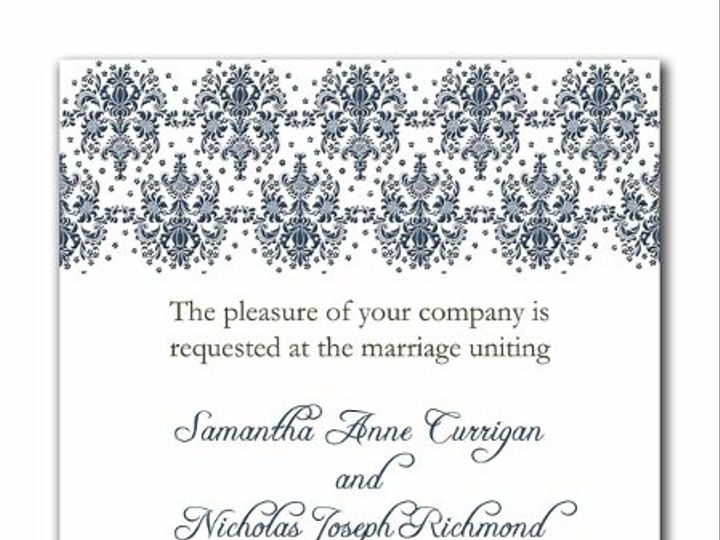 Tmx 1247765931646 Damasktop1a Mount Holly wedding invitation