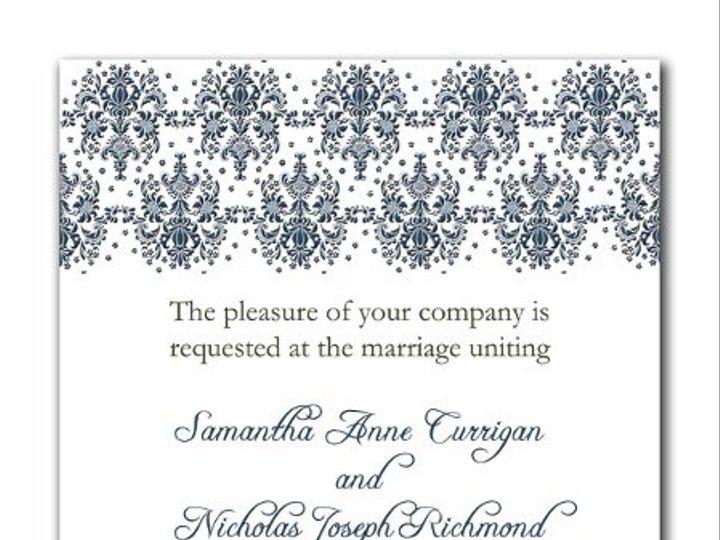 Tmx 1247765931646 Damasktop1a Mount Holly wedding invitation