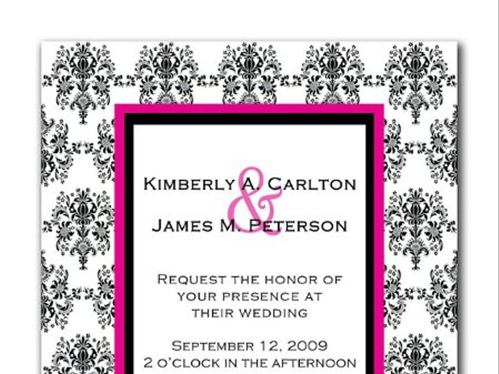 Tmx 1247765966130 Damaskweddinginvitation1b Mount Holly wedding invitation