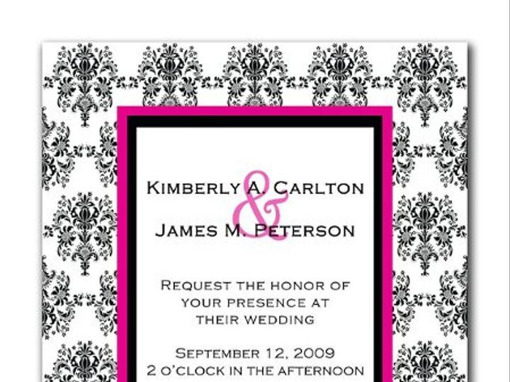 Tmx 1247765966130 Damaskweddinginvitation1b Mount Holly wedding invitation