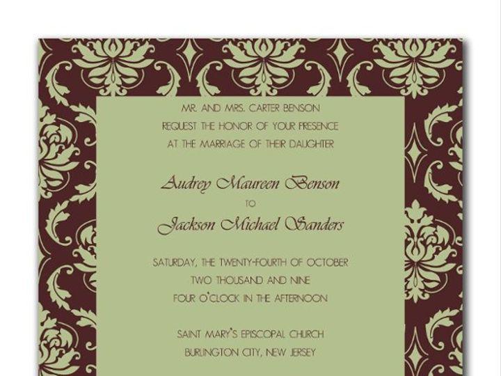 Tmx 1247766028474 Mochasageinvite1 Mount Holly wedding invitation