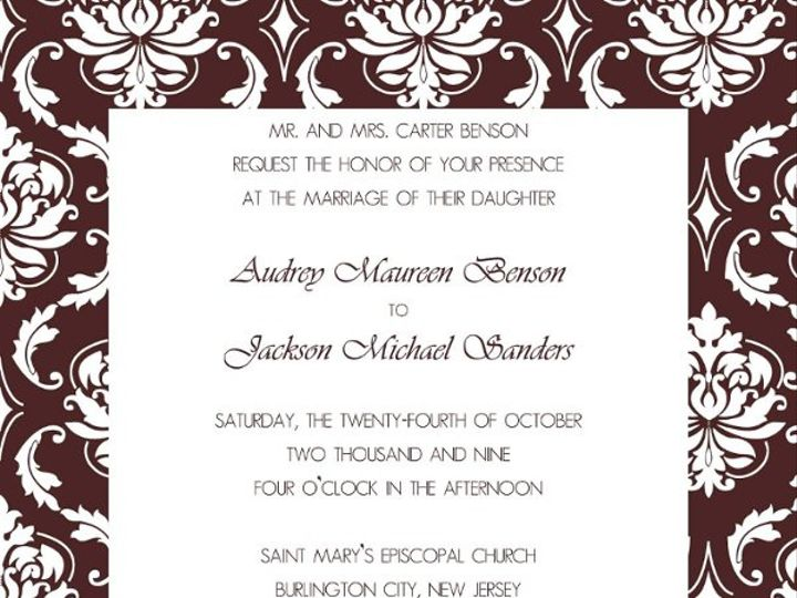 Tmx 1247766051052 Mochawhiteinvite1 Mount Holly wedding invitation