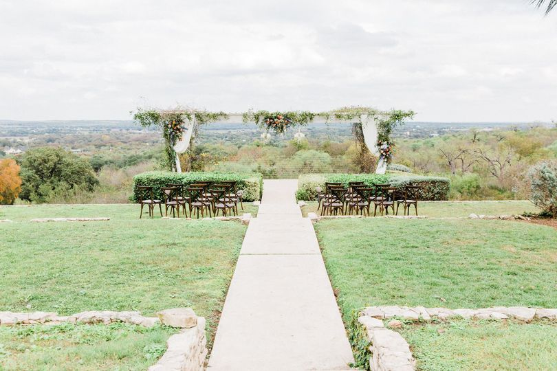 Ceremony on the terrace and arbor