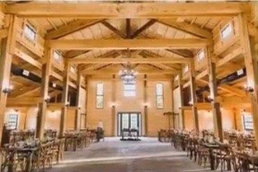 Inside of the barn.