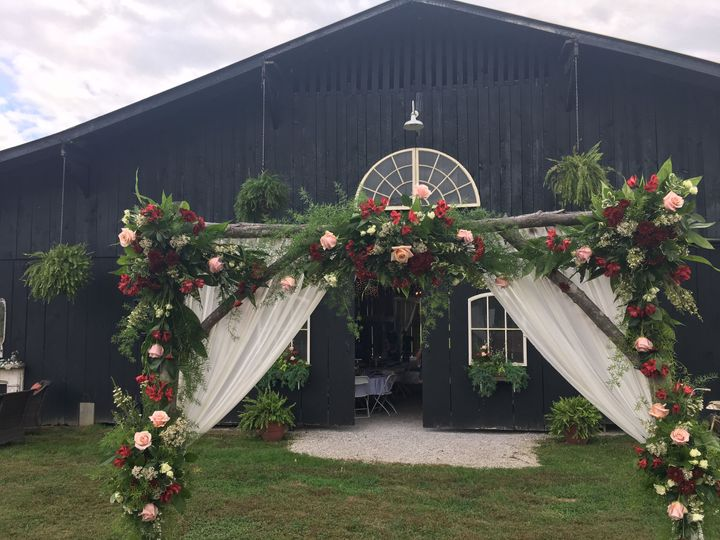 Another view of Barn Entrance and Arch