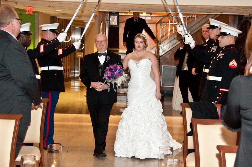 Military Weddings. How wonderful is that?