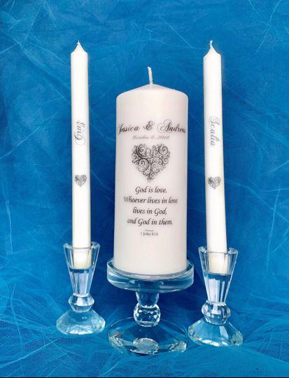 Vine Heart Unity Candle