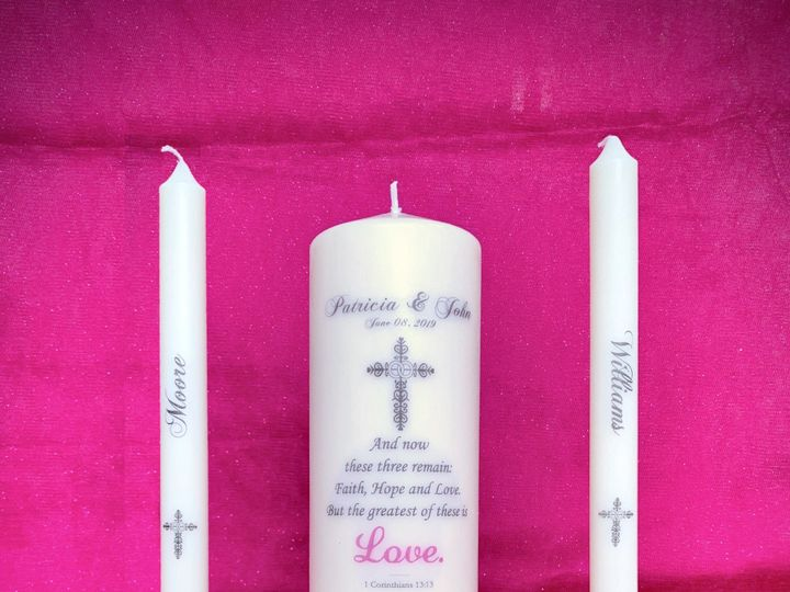 Tmx Awesome Candles By You Vintage Cross Unity Candle Set 51 959220 159295547626644 Miami, FL wedding favor