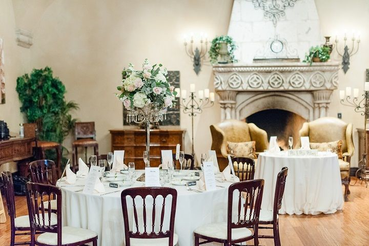 Reception table and sweetheart table