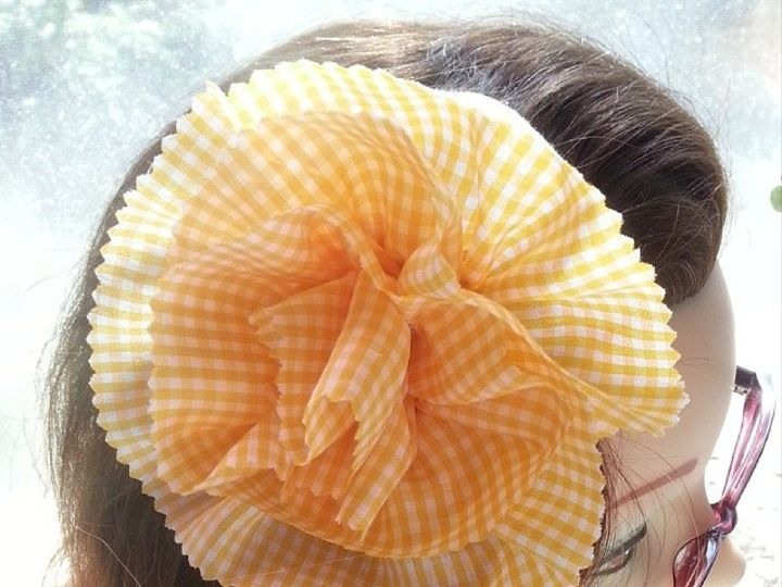 Tmx 1425670728513 Simple Gingham Full Fabric Flower Fascinator 15 By Des Moines wedding favor