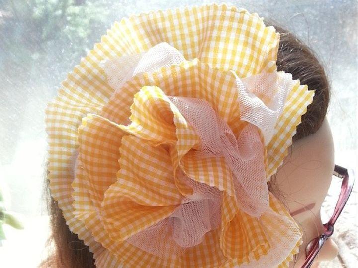 Tmx 1425670732285 Tulle Gingham Full Fabric Flower Fascinator 15 By  Des Moines wedding favor