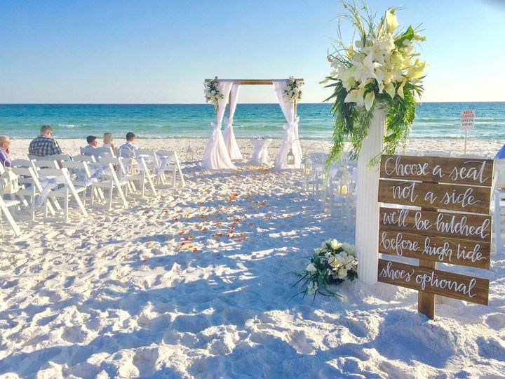 Destination wedding in Destin Florida. November is a beautiful time of the year on the Gulf Coast!...