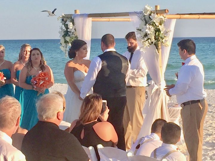 BJ and Jessica! Perfect Beach wedding in Destin Florida at Henderson Beach State Park. November 5,...